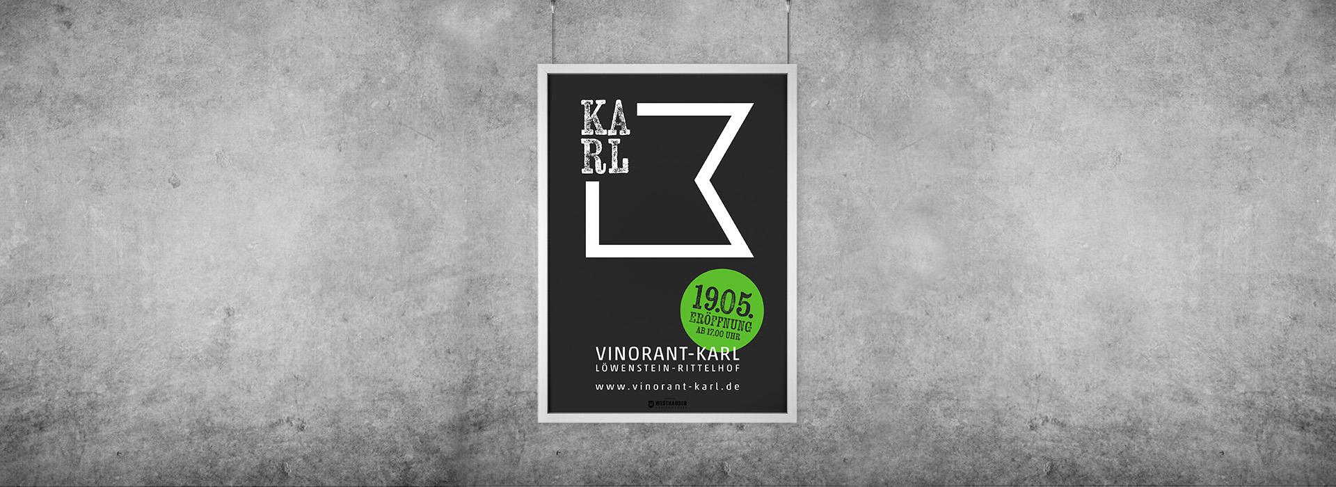 Plakat für Vinorant Karl