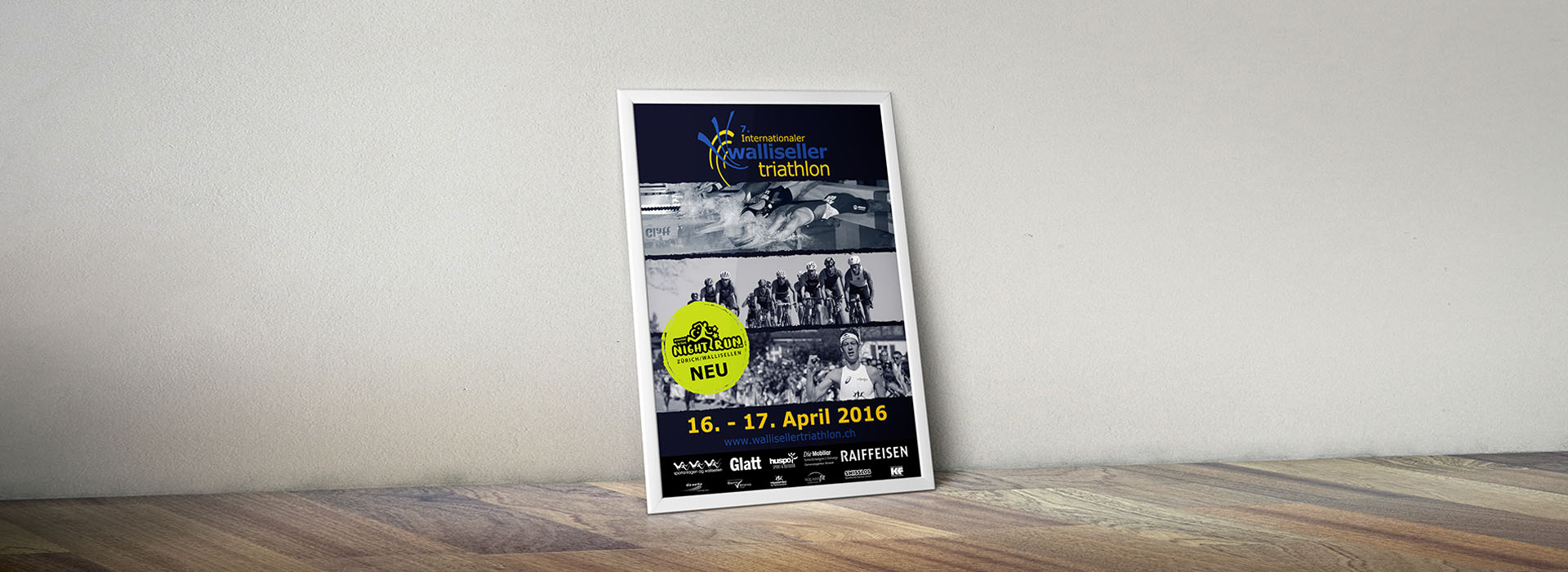 Plakat Walliseller Triathlon